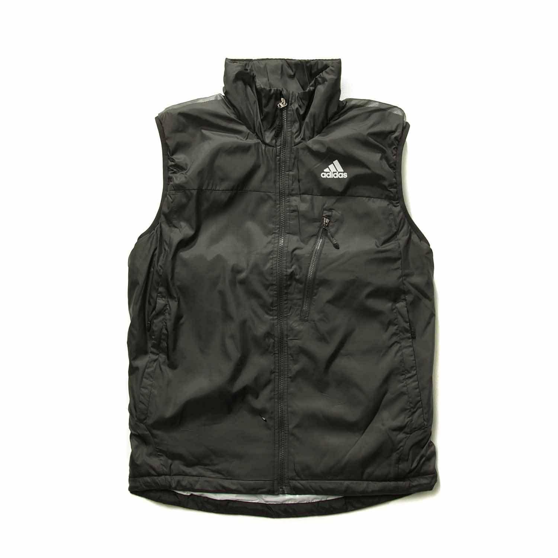 阿迪达斯adidas棉马甲运动背心男性拉链品牌户外立领涤纶 w49991