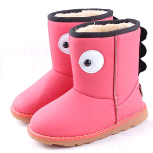 Loss soft bottom children, boys and girls cotton-padded non-slip boots warm snow boots girls boots children in child princess Mianxie