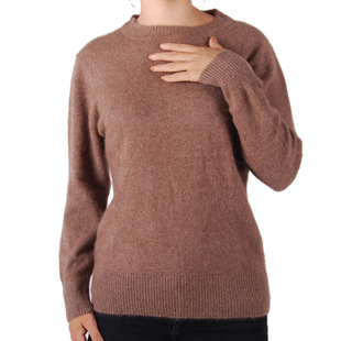 Acrylic cashmere sweaters women's genuine shirts at  end of a Brown sweater fashion sweater qijun genuine BN75