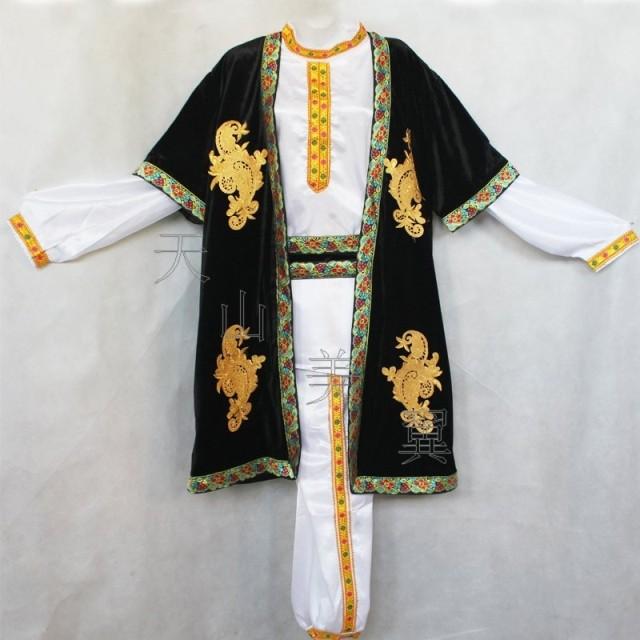 新疆民族 维吾尔族服装 舞蹈舞台服饰 舞台演出服装 男士成人装 (280图片