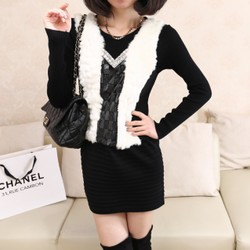 korean style fur sweater