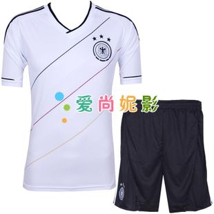 New Germany football team football to take  game to take short-sleeved suit away children's football clothing