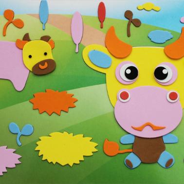 海绵纸手工贴画 eva手工贴画开心小宝新8款 儿童礼物小礼品