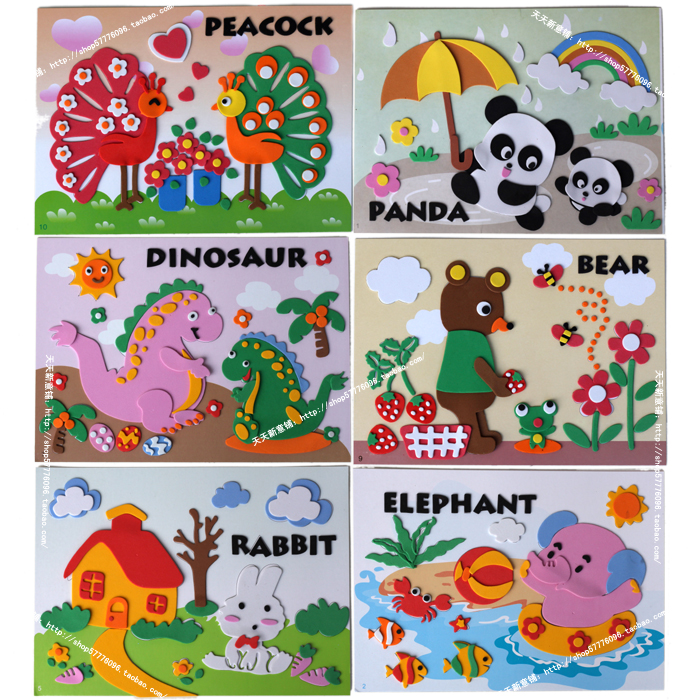 Limited-time special offer authentic black chick Eva children's hand-made three-dimensional pictures pasted painting DIY art and craft materials for 70