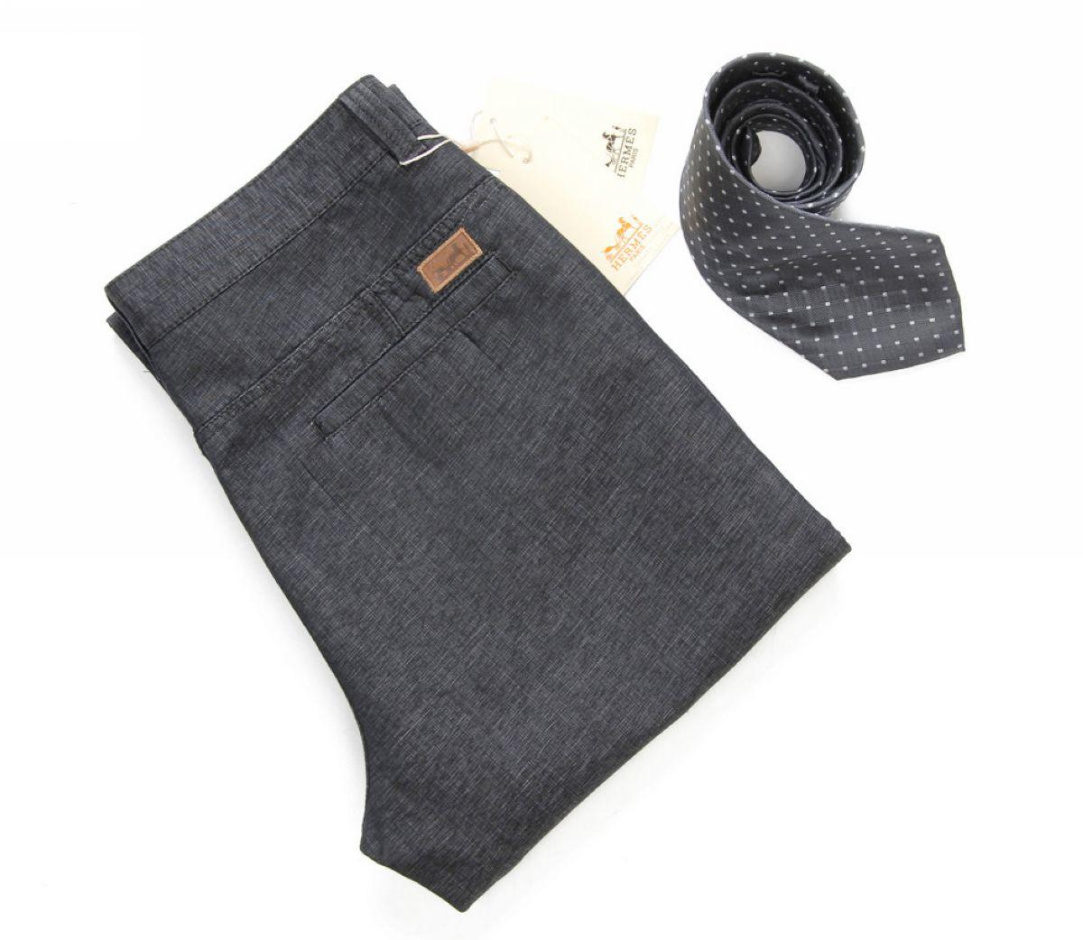 Повседневные брюки Herm 9873/11 Hermes Прямой Хлопок без добавок
