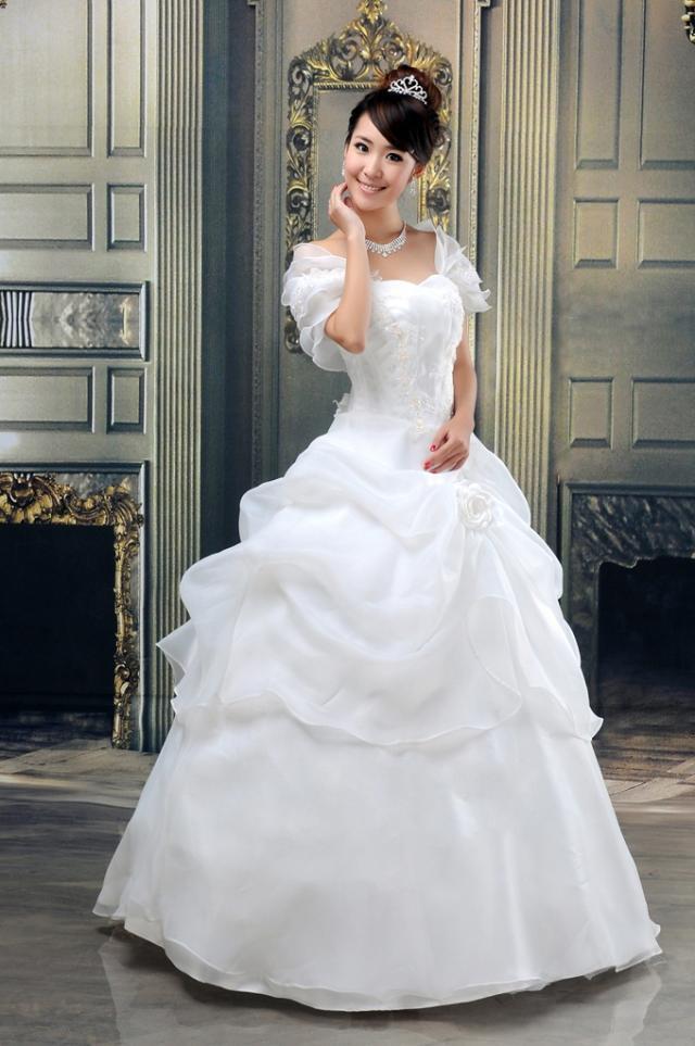 Свадебное платье Original design 8888 2013 2011 Органза Принцесса с кринолином Корейский
