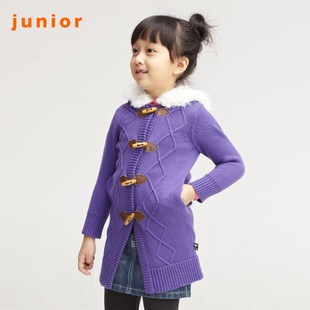 2012 Giordano knit shirts girls Horn button Flash and even Cap wool coat 03351507
