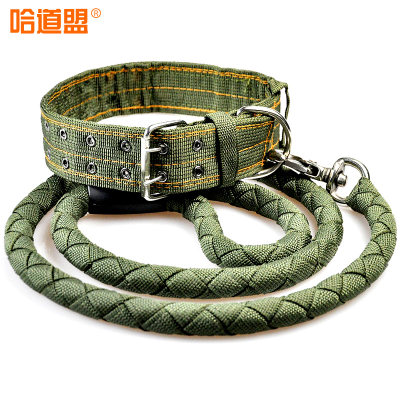Ha Road, Union mastiff traction rope leash dog collar large dog large gold chain Maode Mu Pet Supplies Specials
