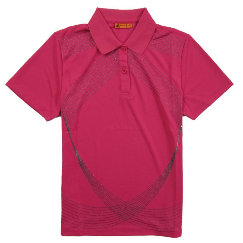 Спортивная футболка Niobium high 3932 2011 Стандартный Воротник-стойка Короткие рукава ( ≧35cm ) Полиэстер Теннис С логотипом бренда, Линейная