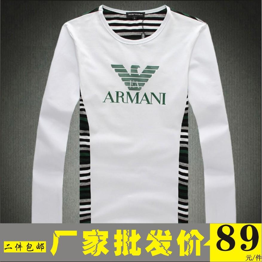 Футболка мужская Armani 508 Длинные рукава ( рукава > 57см ) Немнущаяся ткань Несколько цветов Классический рукав 2012