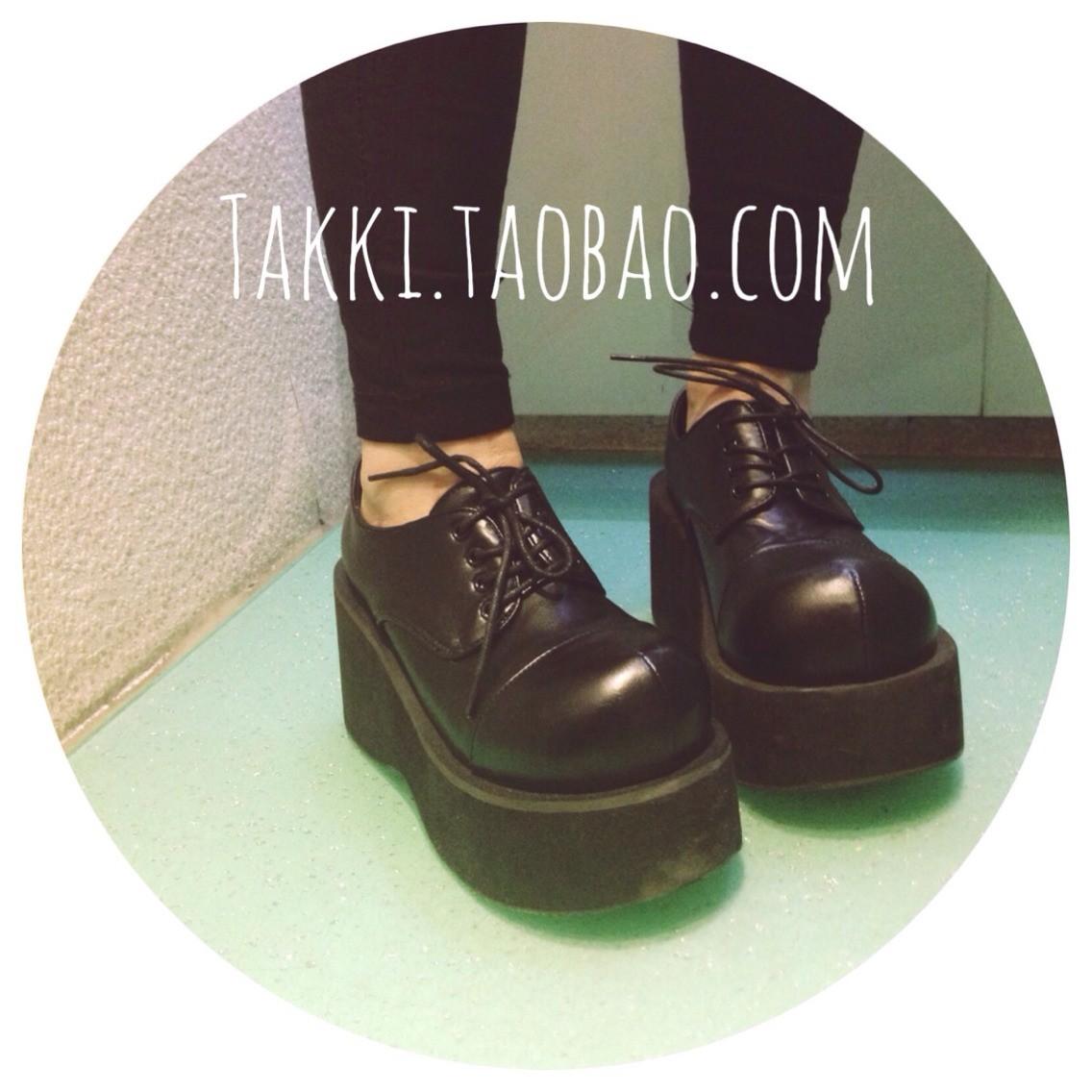 туфли Demonia Harajuku панк-личность и прекрасные большие ботинки ботинки на толстой подошве McDonald's
