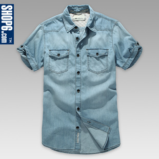 3,355  shop Shop6, 6th men's 2012 Summer new style leisure short sleeve washed cotton shirt