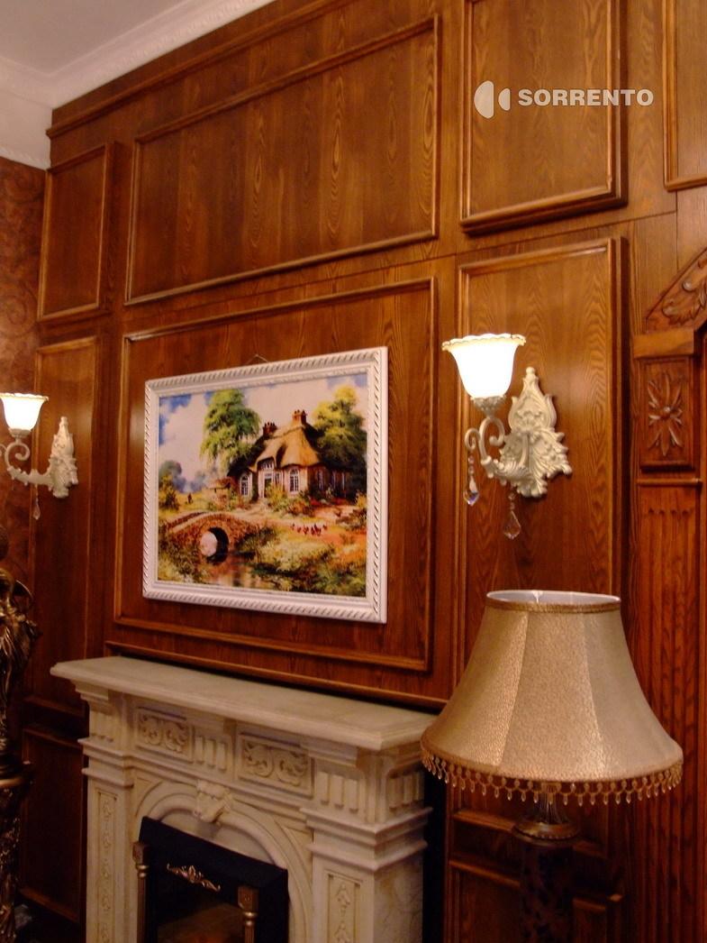索伦托定制定做实木护墙板墙裙板欧式木墙裙装饰板保兰 62图片