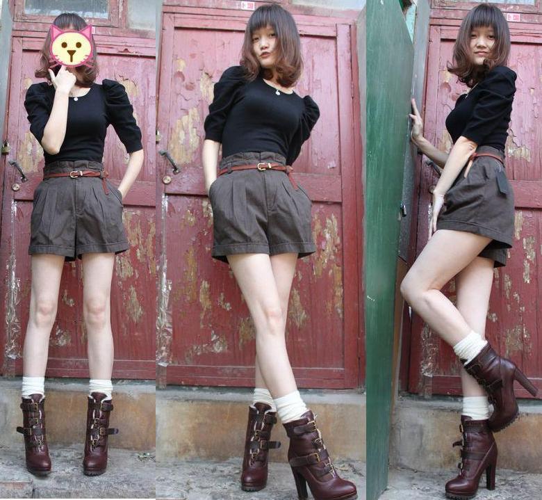 Женские брюки MNG Шорты, мини-шорты Другая форма брюк