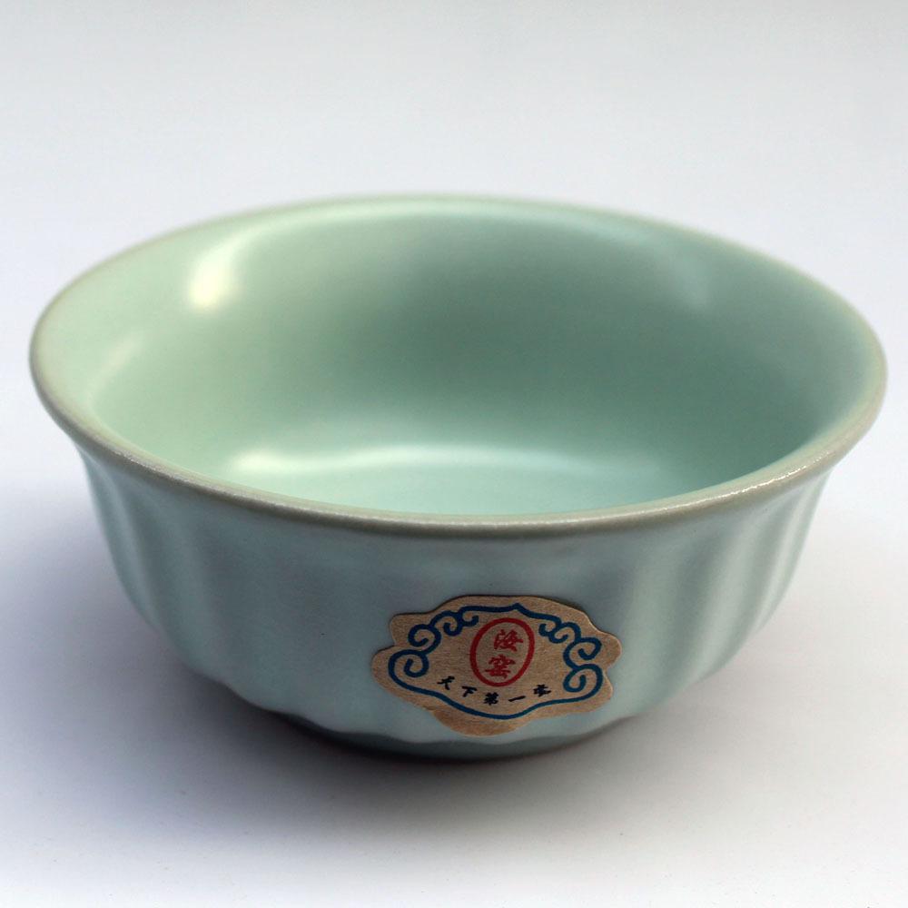 仿宋汝窑陶瓷 茶具 汝瓷茶杯 茶碗 水杯 可开片蝉翼纹大直纹杯