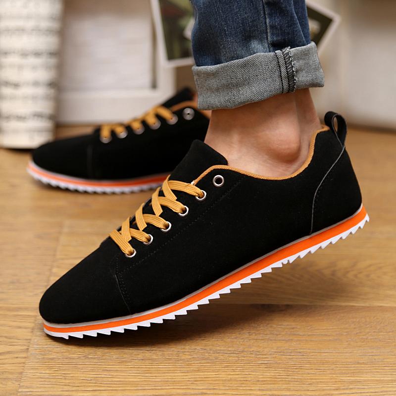 Демисезонные ботинки Обувь Весна Мужская Спорт мужчин обуви Корейский волны тенденция обувь нубука кожи Форрест Гамп Великобритании досуг обувь