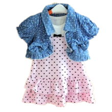 678910 months 1 to 2 years old and a half weeks summer female baby vest skirt cape suit cotton
