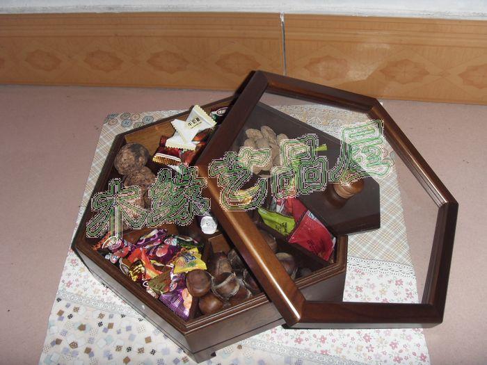 创意木制果盘干果盒喜糖盒瓜子盒糖果盒木质婚庆厂家直销特价包邮