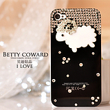The Apple 4s genuine sheep rhinestones iphone4 cellphone the shell casing sub ipone4s protection sets new