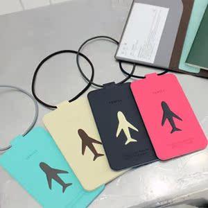 折叠款飞机标识行李牌Travel Tag