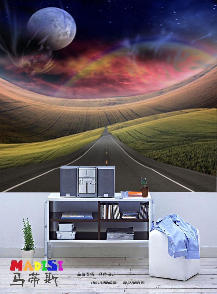 大型定制壁画/客厅背景沙发背景儿童卧室墙纸画/太空风景远景