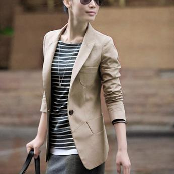 2012 春装新款女装韩版女士黑色大码小西服修身小西装小外套 女款
