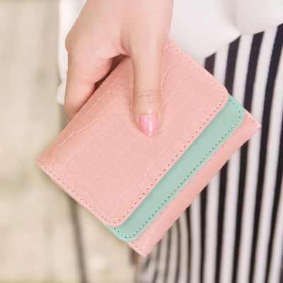 Ms. folded wallet female short paragraph 2015 new Korean fashion ladies purse wallet women students in small packages