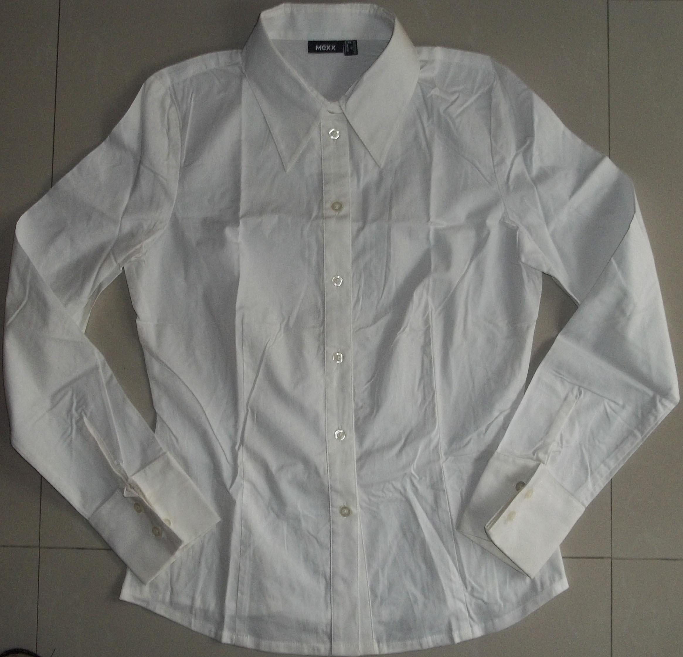 женская рубашка Mexx 100_1375 Городской стиль Длинный рукав Однотонный цвет