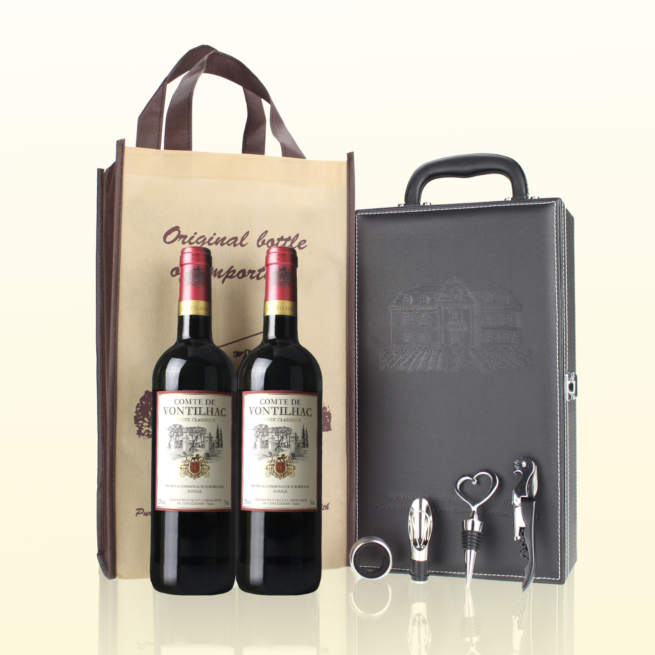 店庆!法国进口红酒 梵帝雅干红葡萄酒 红酒礼盒装 包邮送礼品酒