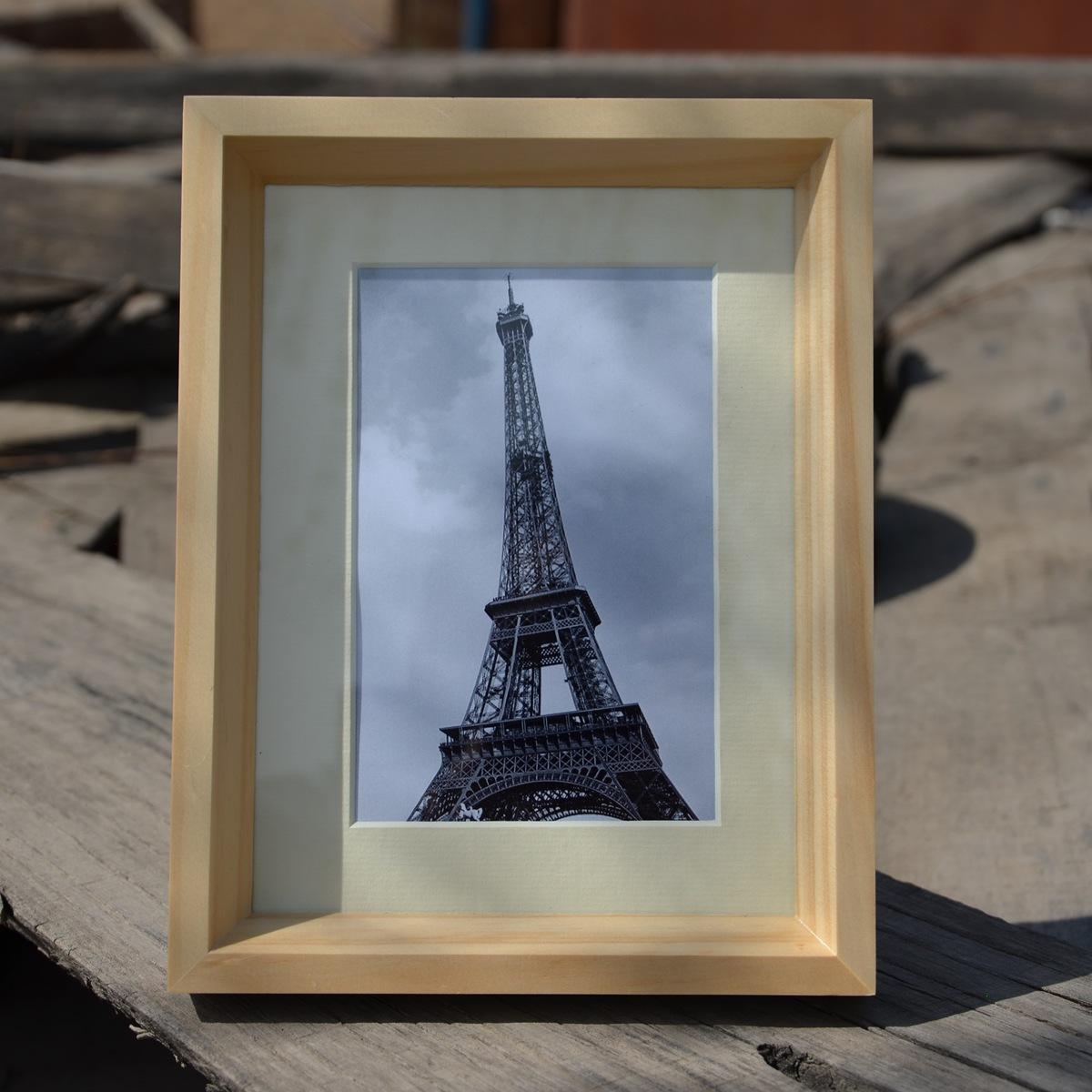 亚欧美色图_原木色实木相框 高档简约风格 出口欧美7寸8寸10寸12寸相架gdm