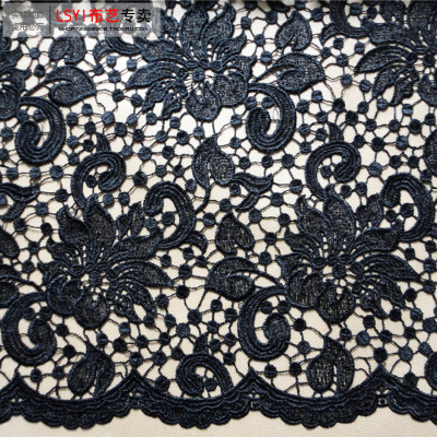 Heavy water soluble lace three-dimensional flower embroidery hollow thick cloth fabric diy manufacturers authentic wholesale