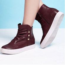 依思Q2013秋季新款短靴圆头五金饰扣时尚流行舒适女靴子13175323图片