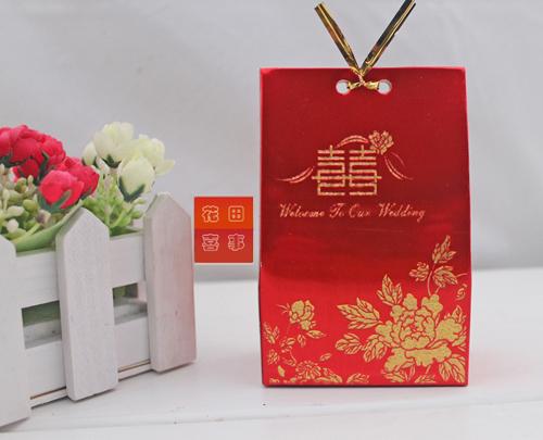 最新款特价个性浪漫创意婚庆用品 中式高档双喜喜糖盒 特价送配件