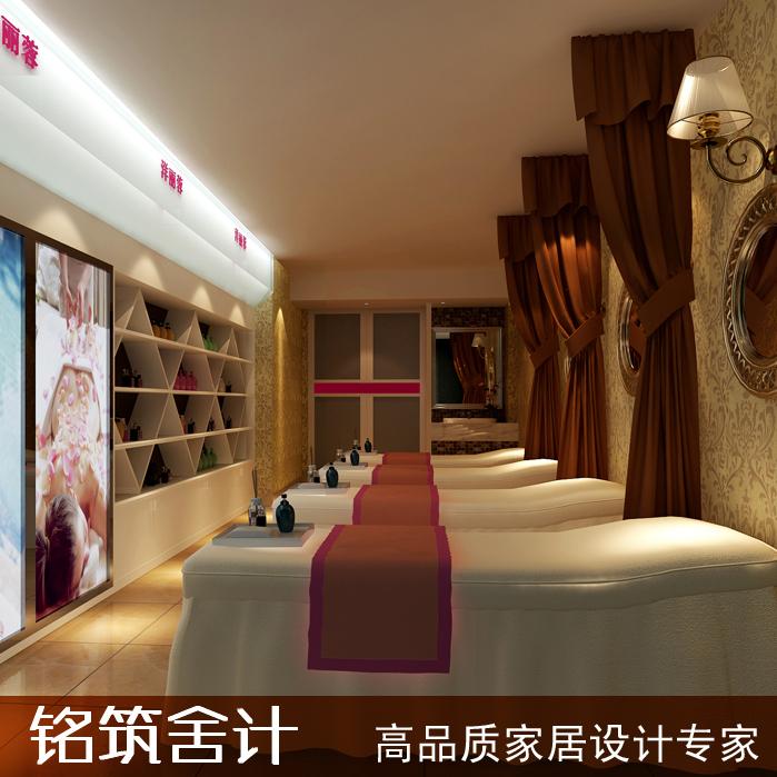 铭筑舍计 美容美体spa装修设计 包间吧台设计效果图 重庆公装设计