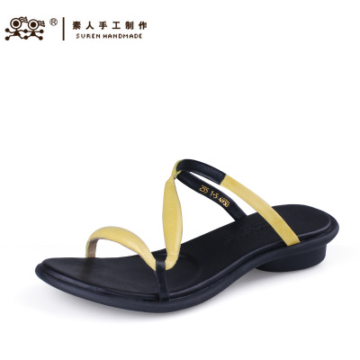 Su People manual 2014 new bright fresh and comfortable casual sandals leather genuine 14XWY004