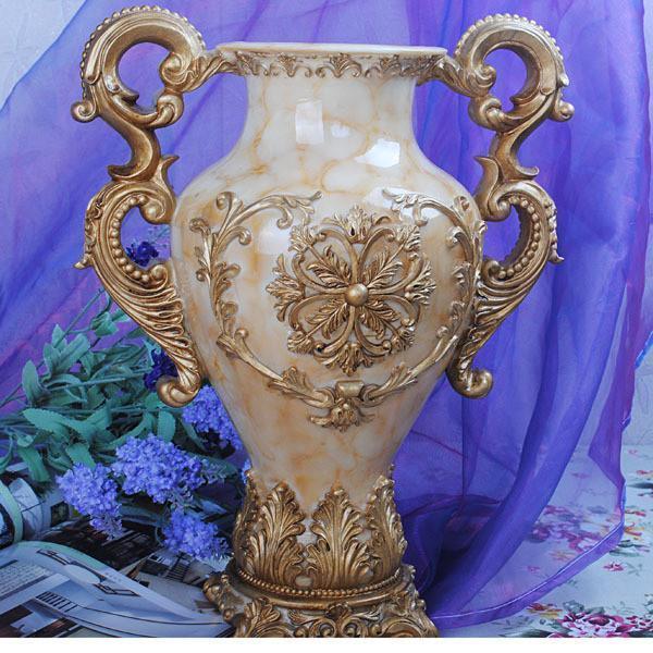 欧式宫廷风格 奢华复古 雕花花插 花瓶摆件 收纳瓶图片