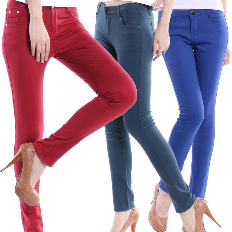 Женские брюки Длинные брюки Узкие брюки-карандаш Милый Осень, Зима Утеплённая модель