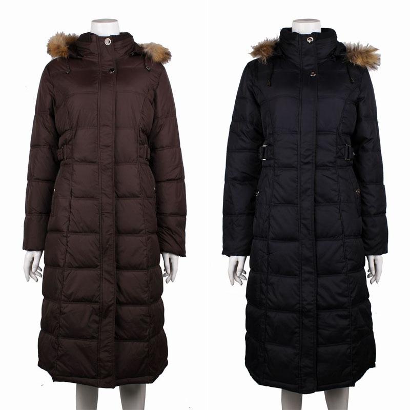 Женская утепленная куртка 8002 2012 Облегающий покрой Длинный рукав