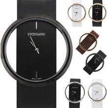 Simples relojes transparentes en Hong Kong SS hoja de personalidad neutral entre las mujeres y los hombres ven las mesas masculinas par CK S9023