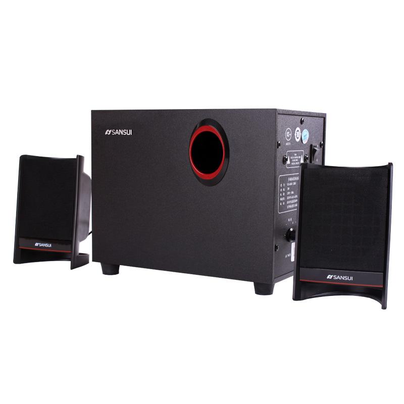电脑 正品/全新正品山水电脑音箱28B 2.1低音炮有源木质立体声音响一年...
