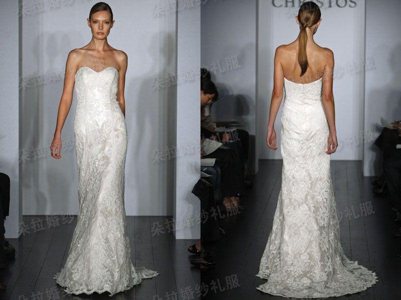 Свадебное платье Христос v шеи Свадебные платья принцессы качество внешней торговли тела Deluxe кружева