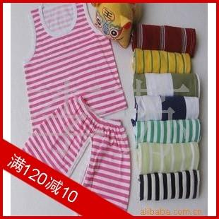 детский костюм Striped suit Для отдыха 100 хлопок Лето % Унисекс