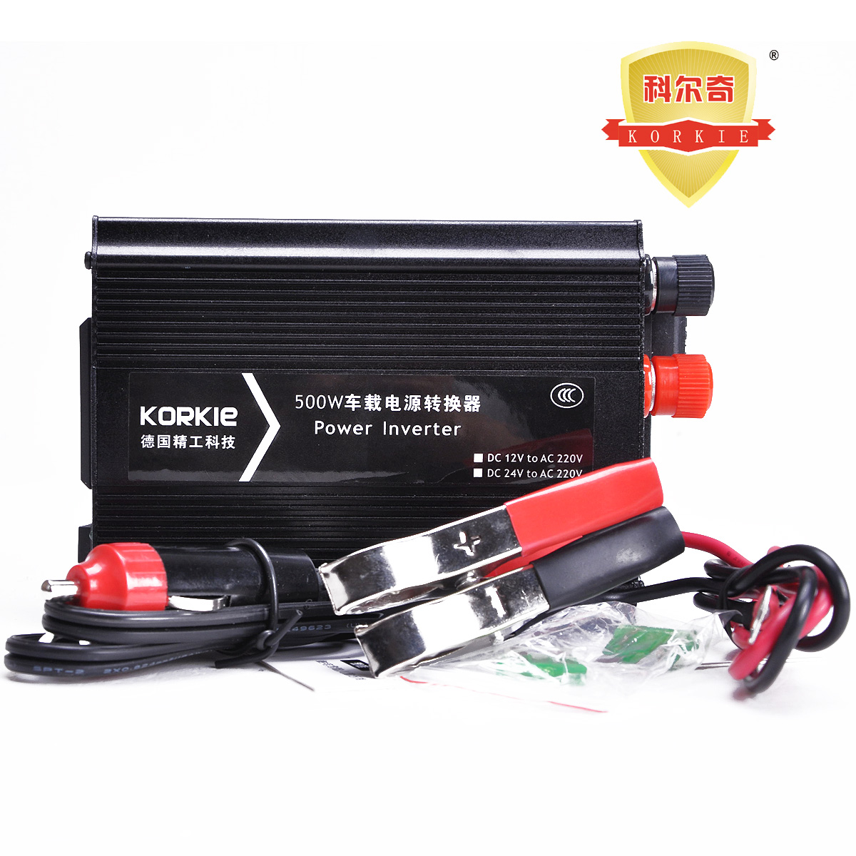 Автомобильный инвертор Korkie  500W 12v 24V 220v USB