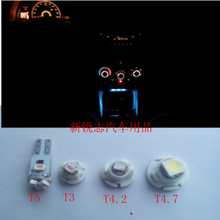 The car instrument lamp Air conditioning light modified leds T3 / T4.2 / T4.7 / T5/3528 lights