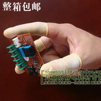 米黄防静电乳胶指套 无粉尘劳保手套足500克 一次性净化指套