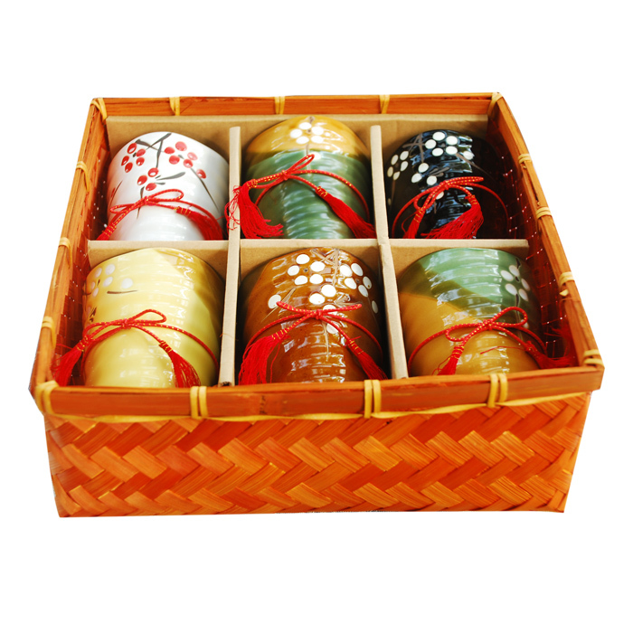 Japanese ceramic tea cups gift set