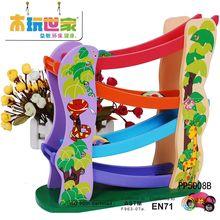 木玩世家 儿童益智玩具 滚珠滑板车 轨道车