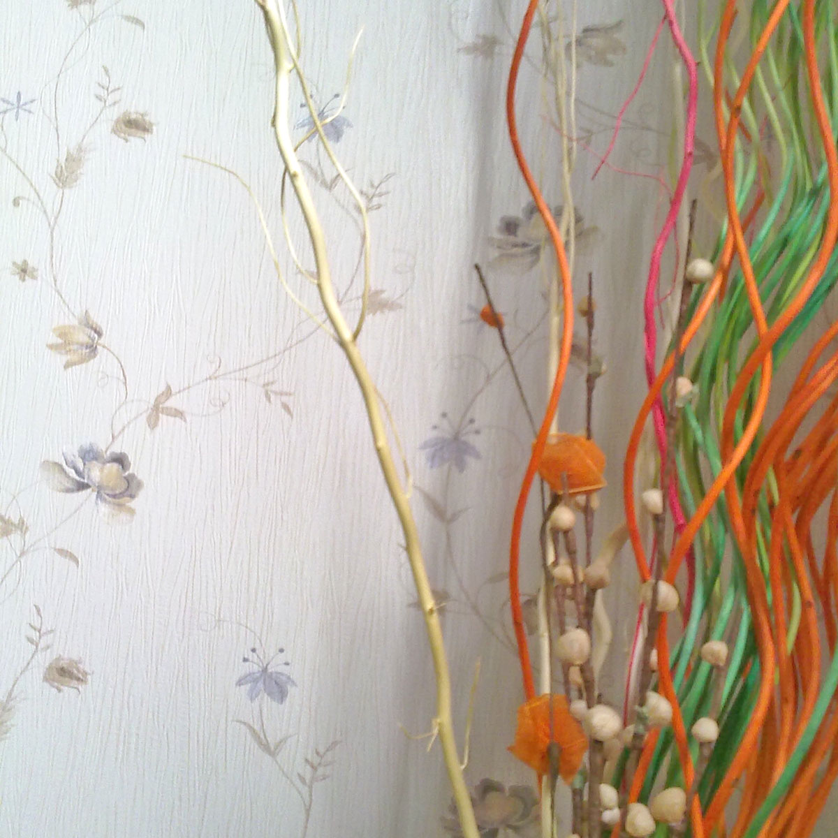 意大利风格墙纸 藤蔓花朵 卧室墙纸 欧式田园壁纸图片