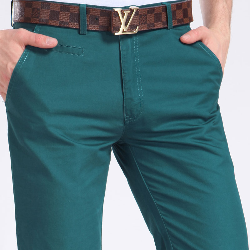 Men's casual pants cotton men's trousers men's trousers straight men in high quality Taobao Agent