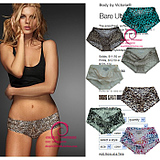 VS models Victoria39s Secret Women39s Seamless one-piece hip abdomen triangular ice silk underwear